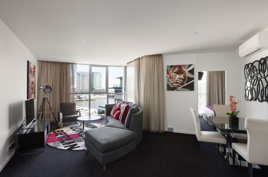 The Sebel Melbourne Docklands living